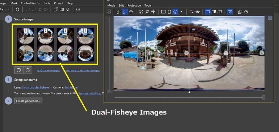 Dual-Fisheye Images