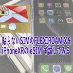 Flexiroam X,iPhoneXR,eSIM