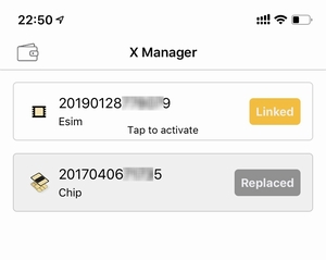 iPhoneXRのeSIM機能を国内で使う